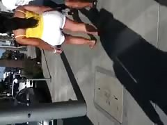 Big booty Indian in white shorts