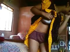 Bangla desi bhabi Rima take a risk to showing Devar