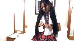 Schoolgirl Model Striptease